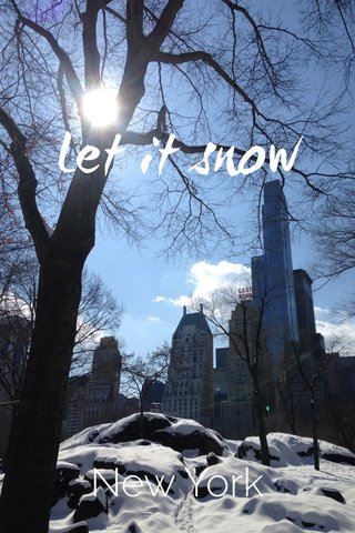 Let it snow New York