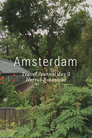 Amsterdam Travel Journal day 3 Hortus Botanicus