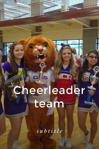 Cheerleader team subtitle