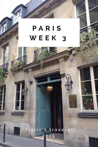 PARIS WEEK 3 Ilaria's travels 2015