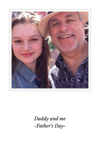 Daddy and me -Father's Day-