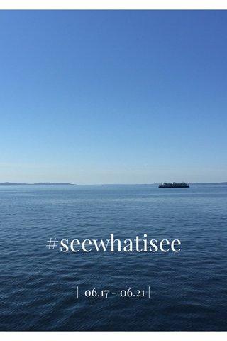 #seewhatisee | 06.17 - 06.21 |