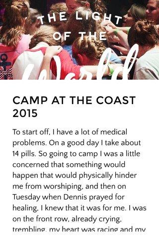 CAMP AT THE COAST 2015