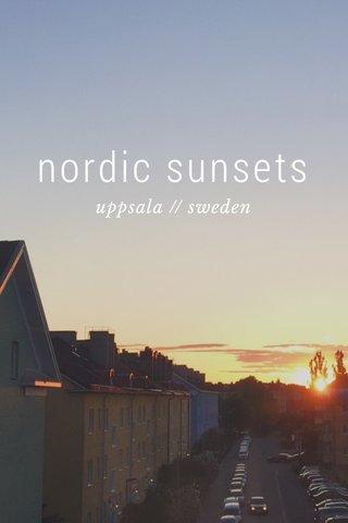 nordic sunsets uppsala // sweden