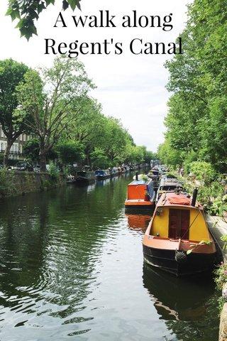 A walk along Regent's Canal