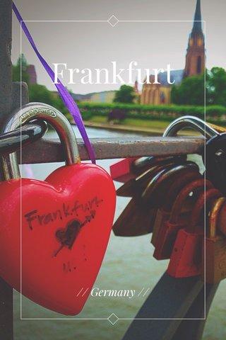 Frankfurt // Germany //