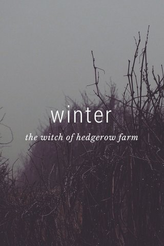 winter the witch of hedgerow farm