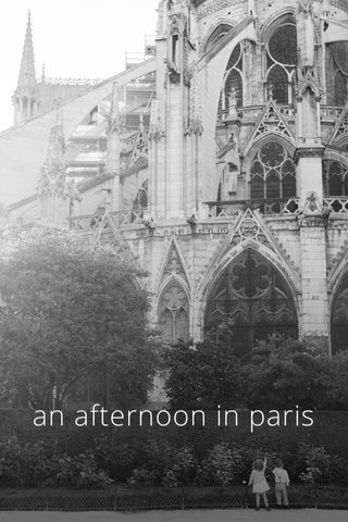 an afternoon in paris
