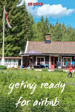 geting ready for airbnb 🇳🇴🇳🇴🇳🇴