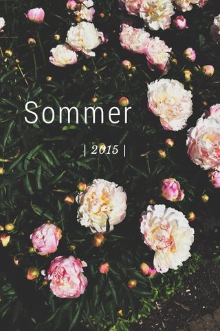 Sommer | 2015 |