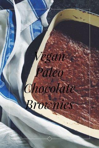 Vegan Paleo Chocolate Brownies   subtitle  