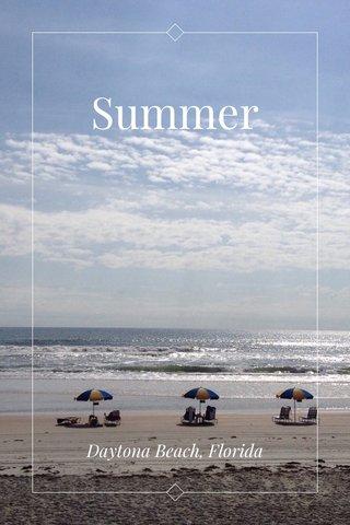 Summer Daytona Beach, Florida