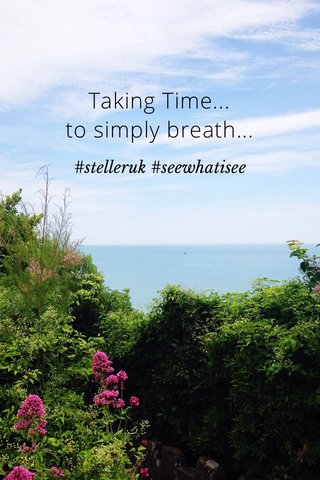 Taking Time... to simply breath... #stelleruk #seewhatisee