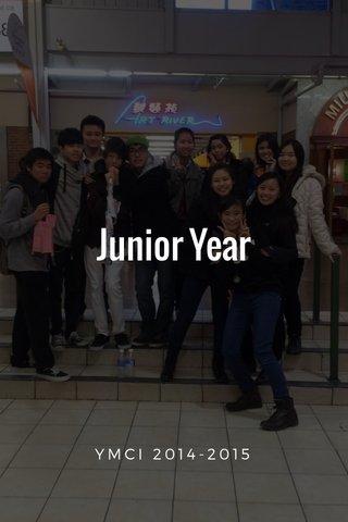 Junior Year YMCI 2014-2015