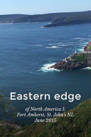 Eastern edge of North America I: Fort Amherst, St. John's NL June 2015