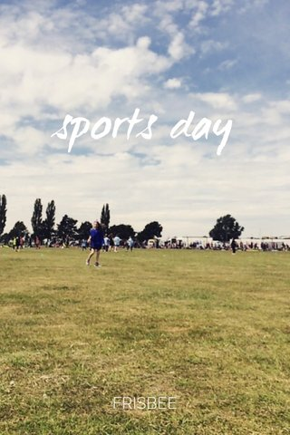 sports day FRISBEE