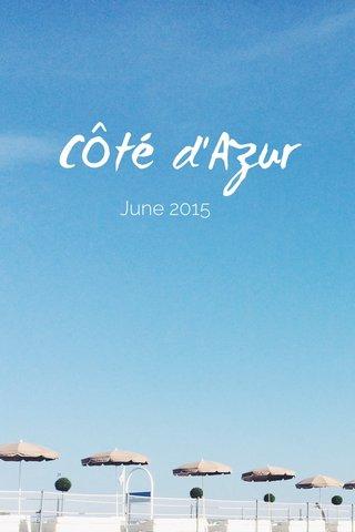 CÔté d'Azur June 2015