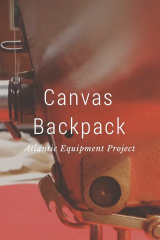 Canvas Backpack Atlantic Equipment Project