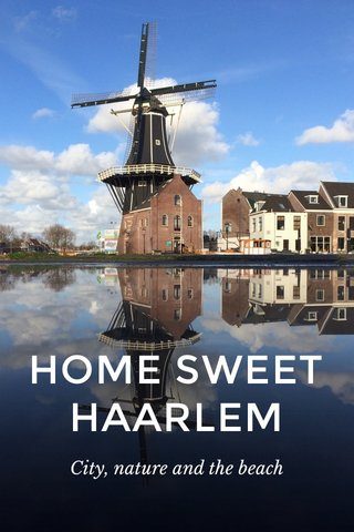 HOME SWEET HAARLEM City, nature and the beach