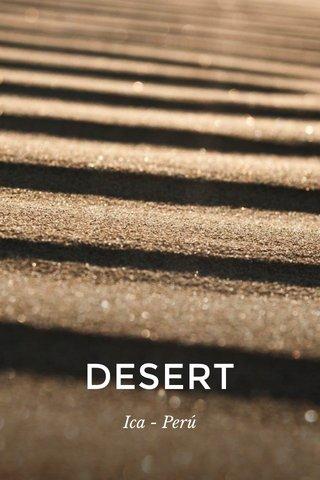 DESERT Ica - Perú