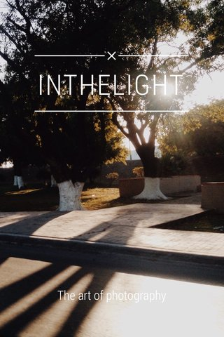INTHELIGHT The art of photography