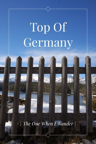 Top Of Germany   The One When I Wander  