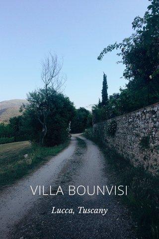 VILLA BOUNVISI Lucca, Tuscany