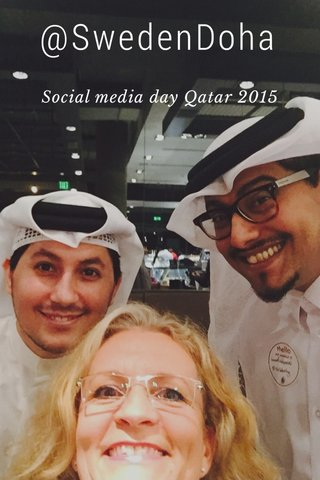 @SwedenDoha Social media day Qatar 2015