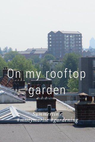 On my rooftop garden Summertime #mistymarlie #gardening