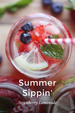 Summer Sippin' Strawberry Lemonade