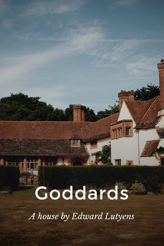 Goddards A house by Edward Lutyens