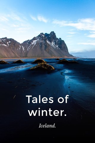 Tales of winter. Iceland.