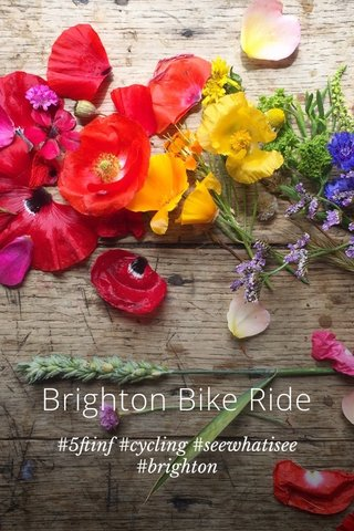 Brighton Bike Ride #5ftinf #cycling #seewhatisee #brighton