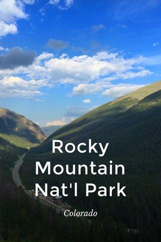 Rocky Mountain Nat'l Park Colorado
