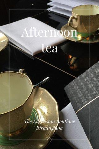 Afternoon tea The Edgbaston Boutique Birmingham