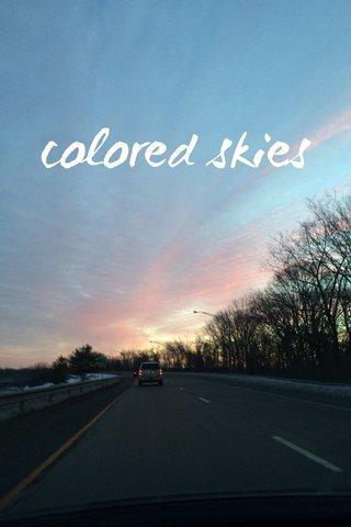 colored skies
