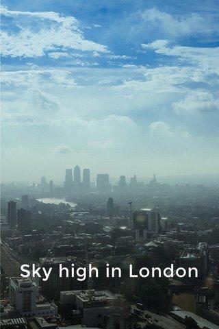Sky high in London