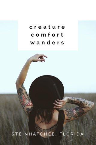 creature comfort wanders STEINHATCHEE, FLORIDA