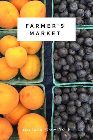 FARMER'S MARKET upstate New York