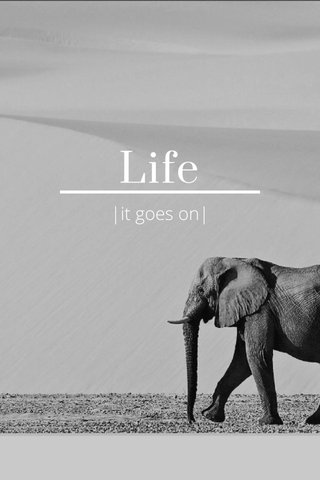 Life  it goes on 