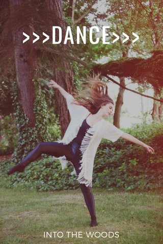 >>>DANCE>>> INTO THE WOODS