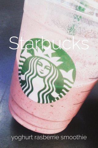 Starbucks yoghurt rasberrie smoothie