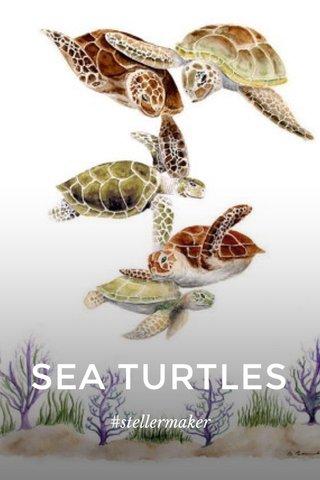 SEA TURTLES #stellermaker