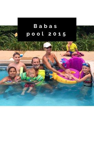 Babas pool 2015