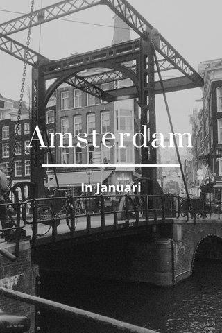 Amsterdam In Januari