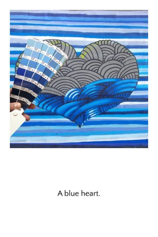 A blue heart.