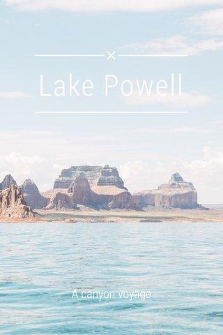 Lake Powell A canyon voyage