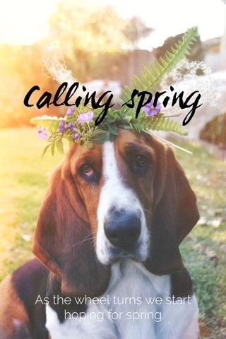 Calling spring As the wheel turns we start hoping for spring