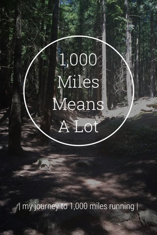 1,000 Miles Means A Lot | my journey to 1,000 miles running |