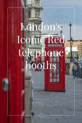 London's Iconic Red telephone booths